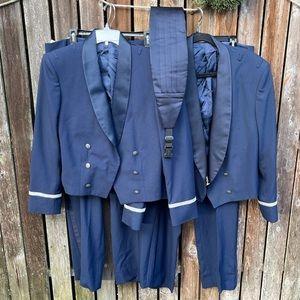 USAF Tuxedo Jacket Pants 2 Sets Blue Suits Costume